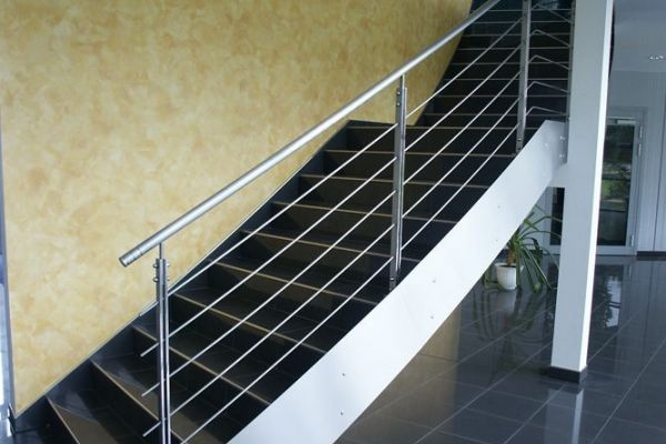 Stainless steel railings and staircases